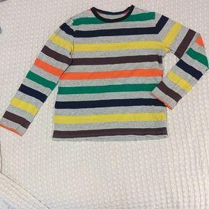 9-10y unisex multi stripe longsleeve Tee MiniBoden